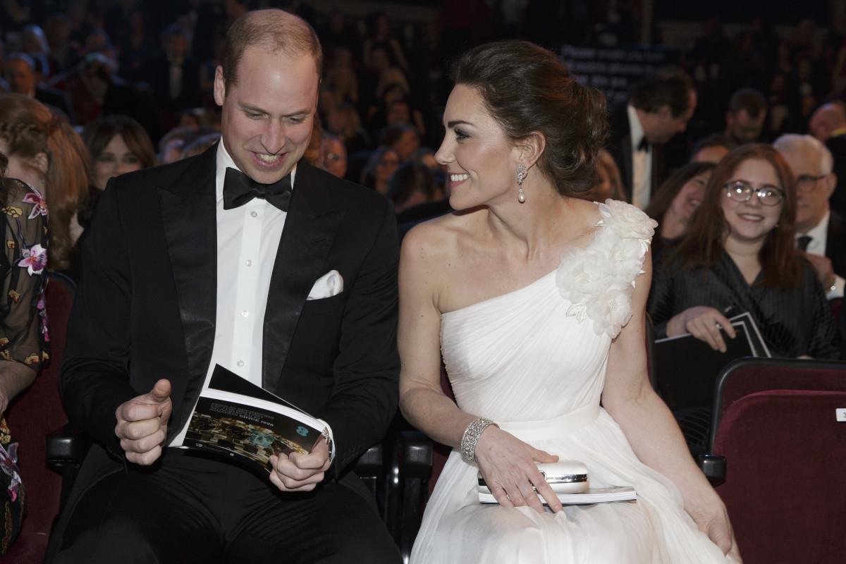 Prince William, Duke of Cambridge and Catherine, Duchess of Cambridge at the EE British Academy Film Awards. Photo: Tim Ireland - WPA Pool/Getty Images