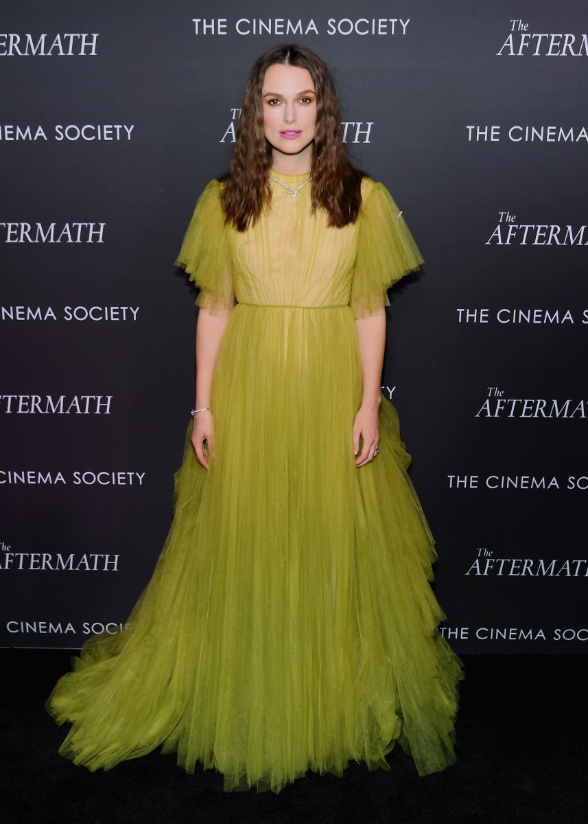 """Keira Knightley at a screening for """"The Aftermath"""" in New York City. Photo: Nicholas Hunt/Getty Images"""