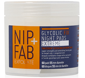 nip & fab exfoliate glycolic fix night pads