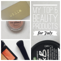 Top 5 beauty products for July