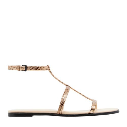 Nine West shorty gold sandal