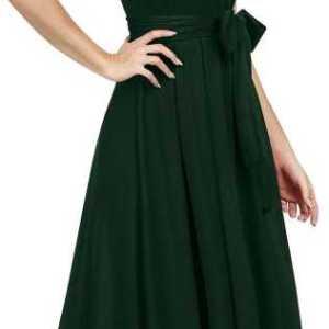 Women Drop Waist Green Dress