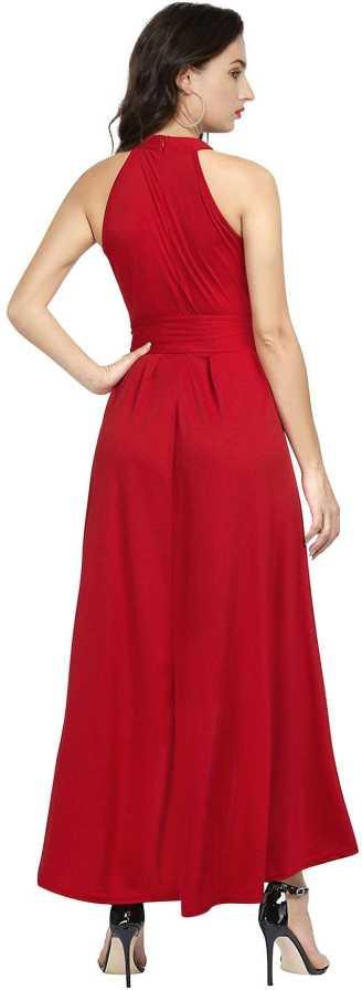 Women Drop Waist Red Dress 1