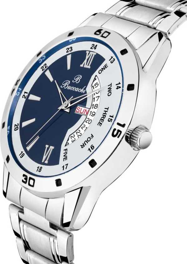 B G504 Day and Date Buccachi Analog Mens Watch navy blue1