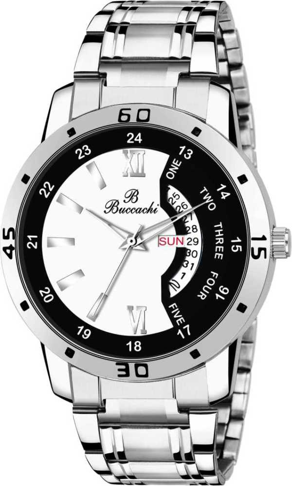 B G504 Day and Date Buccachi Analog Mens Watch sblack 2