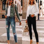 White Leather Jacket Blogger