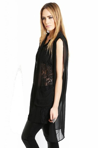 ROYAL DIGS Black Lace Tunic