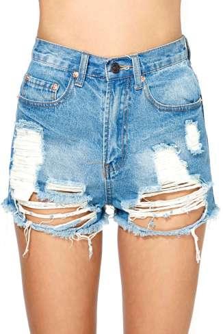 Summer Sky Cut-Off Shorts