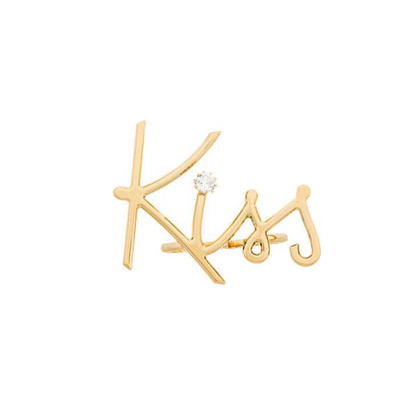 Kiss Double Finger Ring