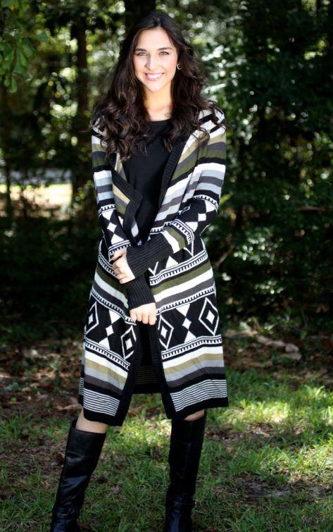 Lourdes Printed Sweater Wrap