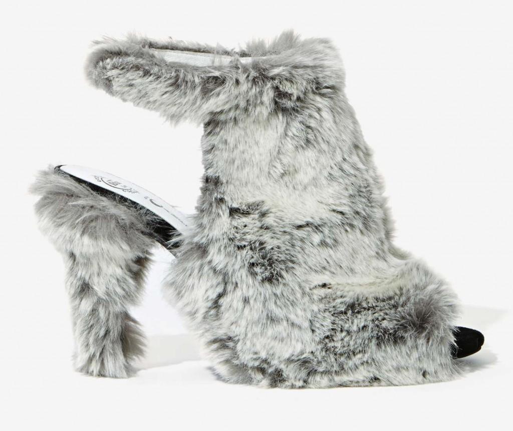 Faux Fur Heels