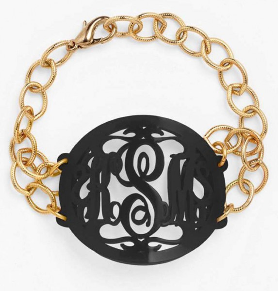 "Moon And Lola ""Annabel"" Personalized Monogram Bracelet"
