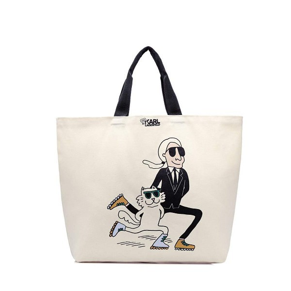 Karl Lagerfeld and Choupette roller skates