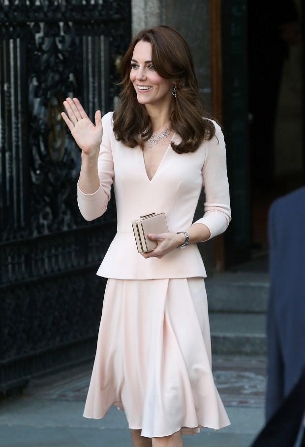 The Duchess Of Cambridge Wears Monica Vinader