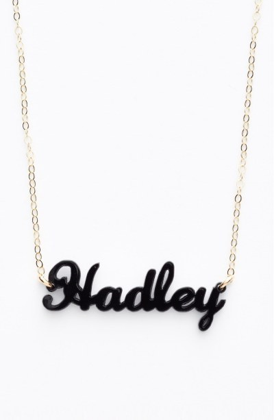 Currently Coveting: Moon and Lola Nameplate Pendant Necklaces