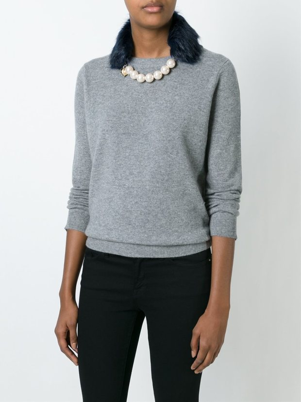 Currently Coveting: Twin-Set Faux Fur & Pearl Collar