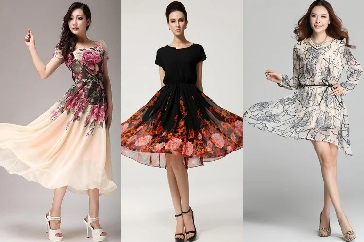 Printed Chiffon Dress Designs For Sultry Summer