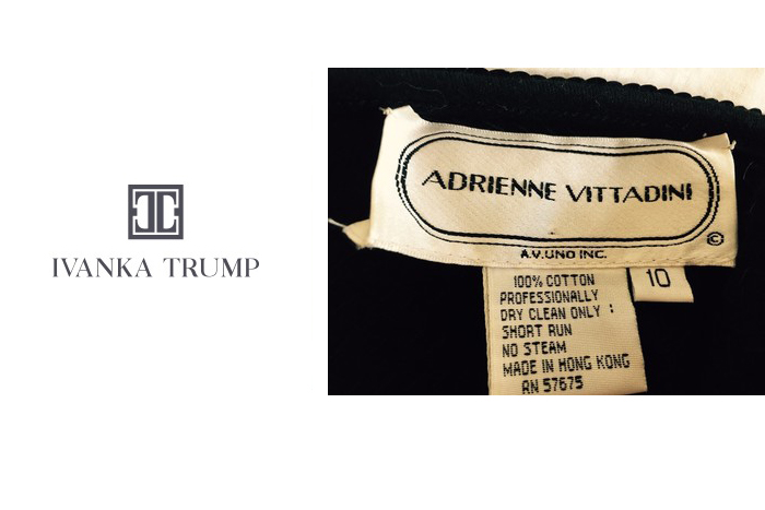 Ivanka Trump logo and Adrienne Vittadini label
