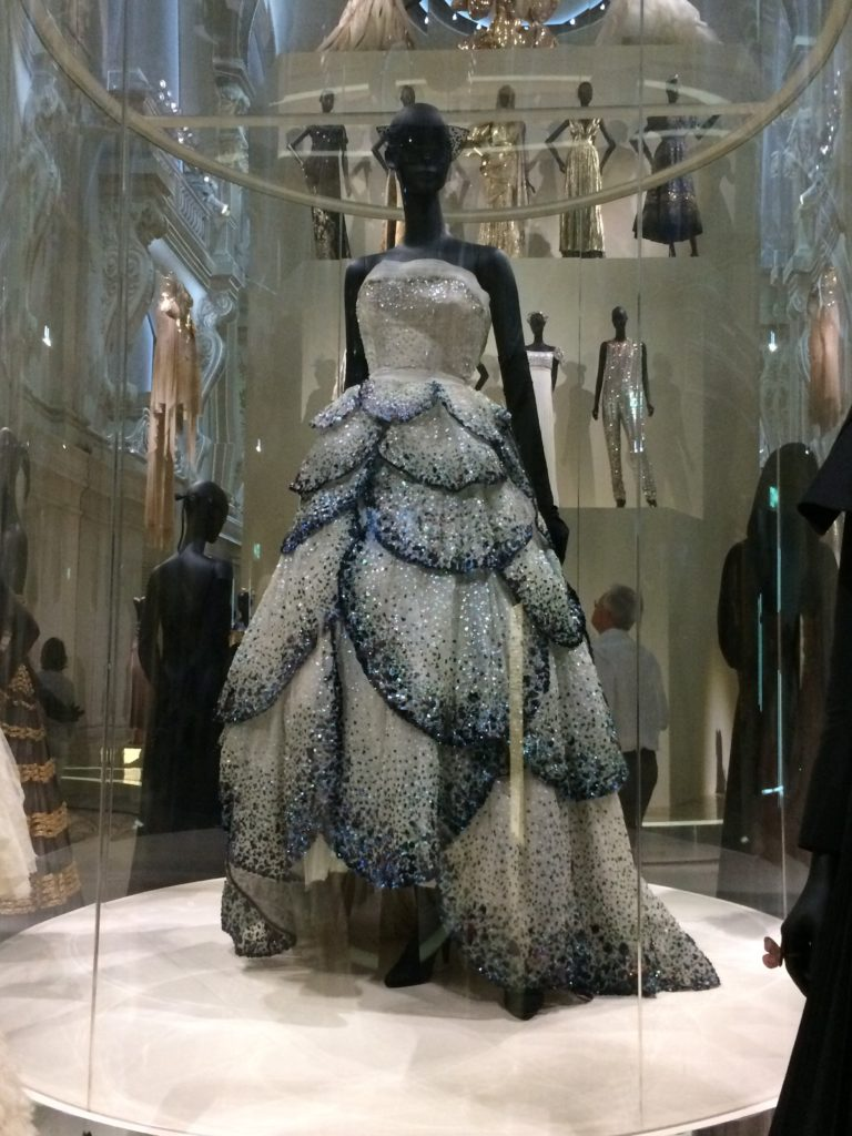 Dior today in the dress-filled ballroom