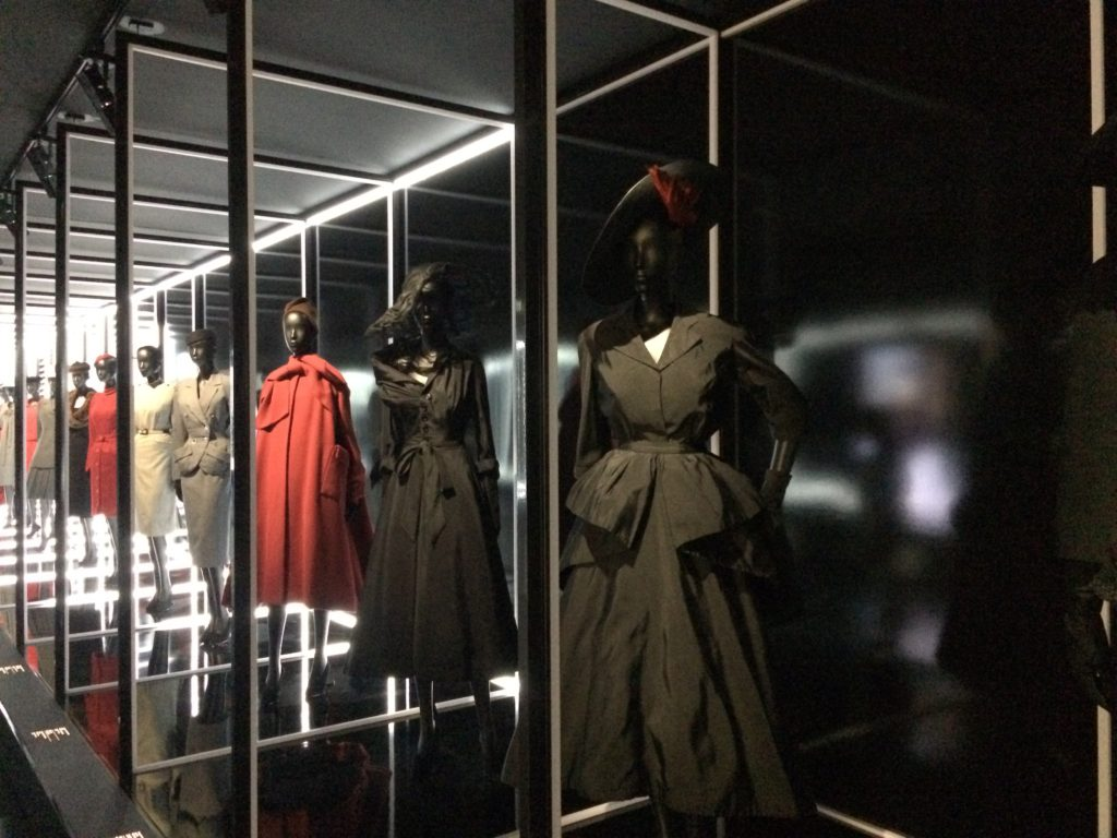A room featuring Dior designs from the New Look to today