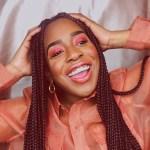 black girl laughing
