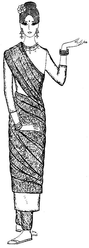 Рис. 45. Индийский костюм для девушки