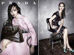Fei-Fei-Sunand-and-Christy-Turlington-Prada-Fall-2013-Ad-Campaign