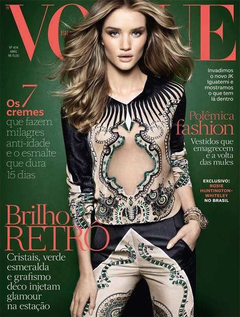 Rosie Huntington-Whiteley Covers Vogue Brazil