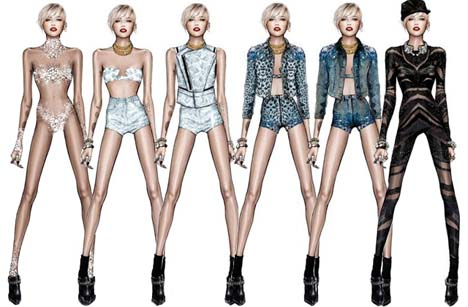 First Look at Miley Cyrus' Bangerz Tour Costumes by ...