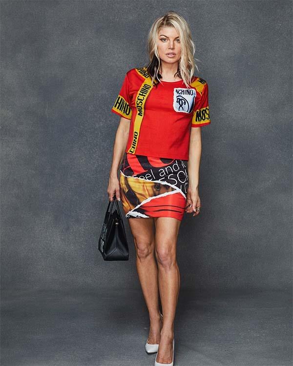 Fergie In Moschino Fall 2017 T-Shirt Dress