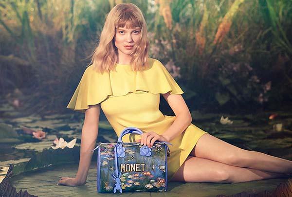 Lea Seydoux for Louis Vuitton x Jeff Koons