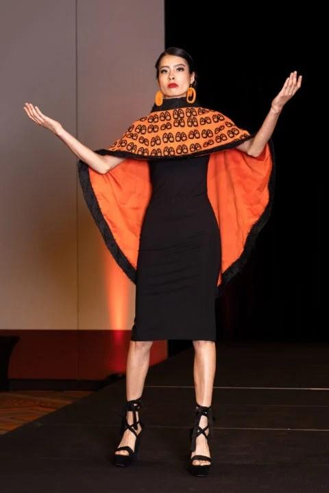 Orange cape Yolonda Skelton