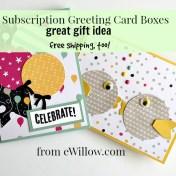 subscription greeting card box