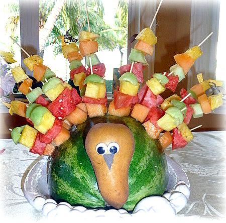 thanksgiving turkey fruit salad