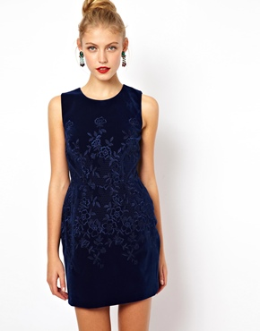 ASOS Embroidered Velvet Prom Dress: Click Here