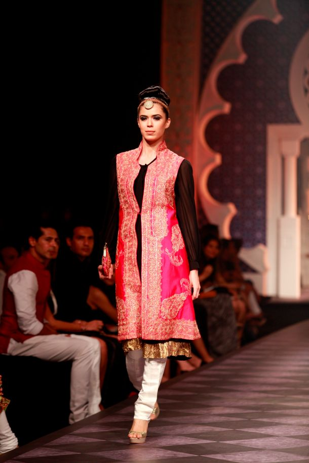 Seen at Aamby Valley India Bridal Fashion Week - Day 3-Model in a Raghavendra Rathore creation