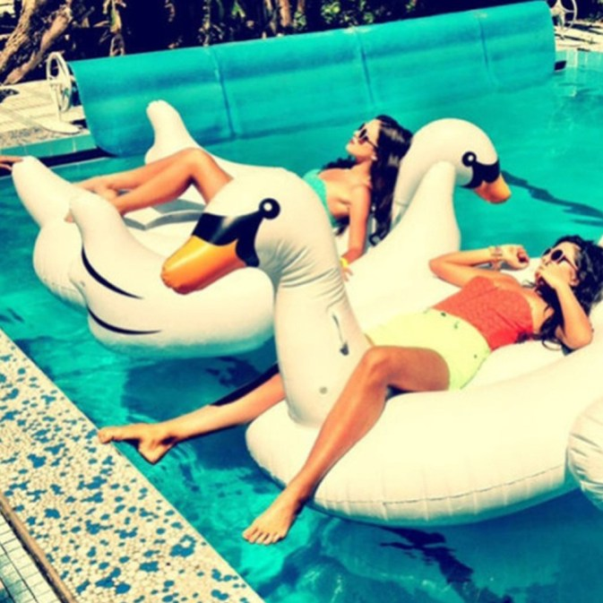 White Swan Pool Party Float