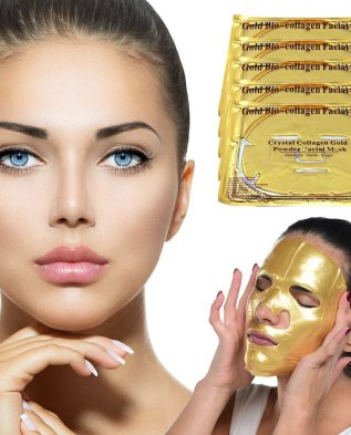 Anti-aging 24k Gold Collagen Power Face Mask – 3 Pack Be Your Own Beautician