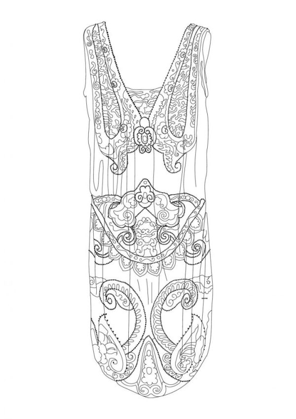 Fashion Museum Coloring Book