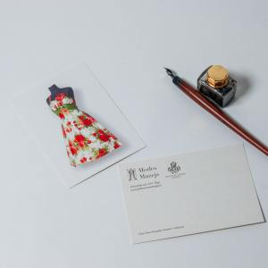 Postcard Dress with Red Flowers
