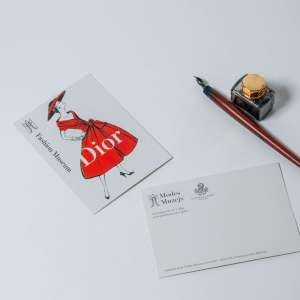 "Postcard ""Dior"" exhibition poster"