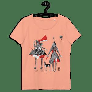 """100% organiskās kokvilnas T krekls persiku krāsā ar apdruku """"Karnevāls"""""""