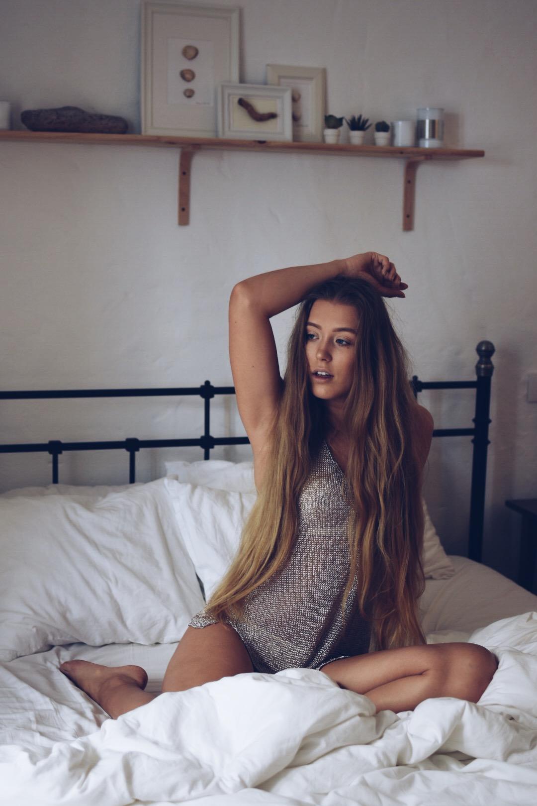 Early morning lingerie shoot