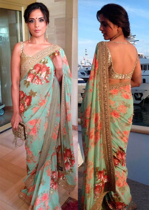 10-must-have-sarees-for-a-modern-brides-trousseau-trunk-floral-chiffon-saree-4