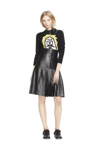 Ashley Williams Sweater, Ashley Williams Skirt, Acne Studio Shoes