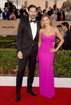 LOS ANGELES, CA - JANUARY 30: Actor Joe Manganiello (L) and actress Sofia Vergara attends The 22nd Annual Screen Actors Guild Awards at The Shrine Auditorium on January 30, 2016 in Los Angeles, California. 25650_015 (Photo by Jason Merritt/Getty Images for Turner)