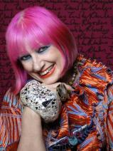 Zandra Rhodes. Photo Credit: Gene Nocon