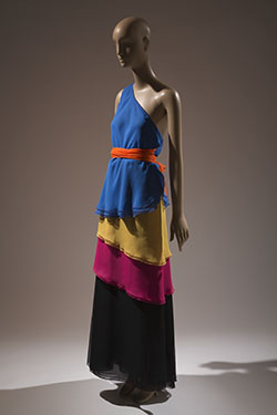 Stephen Burrows, two-piece evening dress, 1973, USA, Gift of Mrs. Savanna Clark, 99.15.1