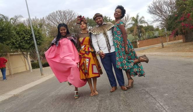 zulu-groom-zambian-bride-traditional-wedding-ankara-dress