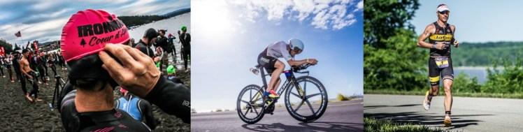 Ironman triathlon swim ride run